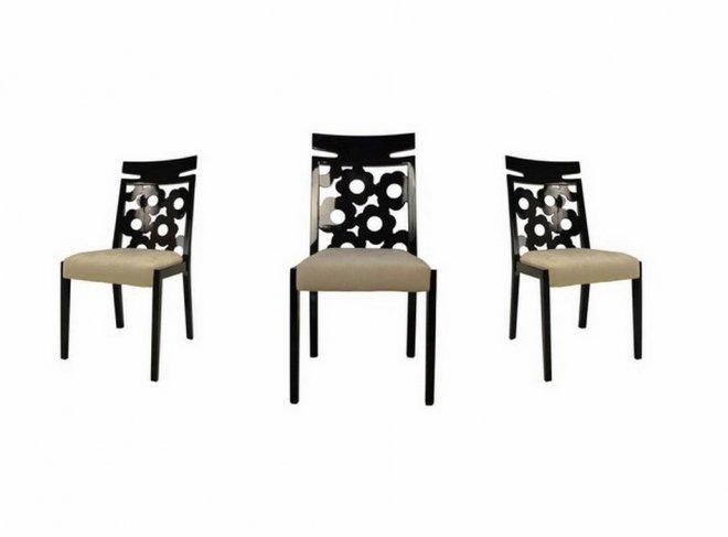 Cadeira Flores preto